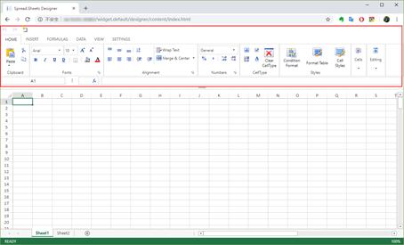 SpreadJS 高度类似 Excel 的在线表格编辑器界面